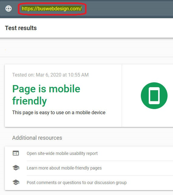 Mobile Friendly Web Design score1